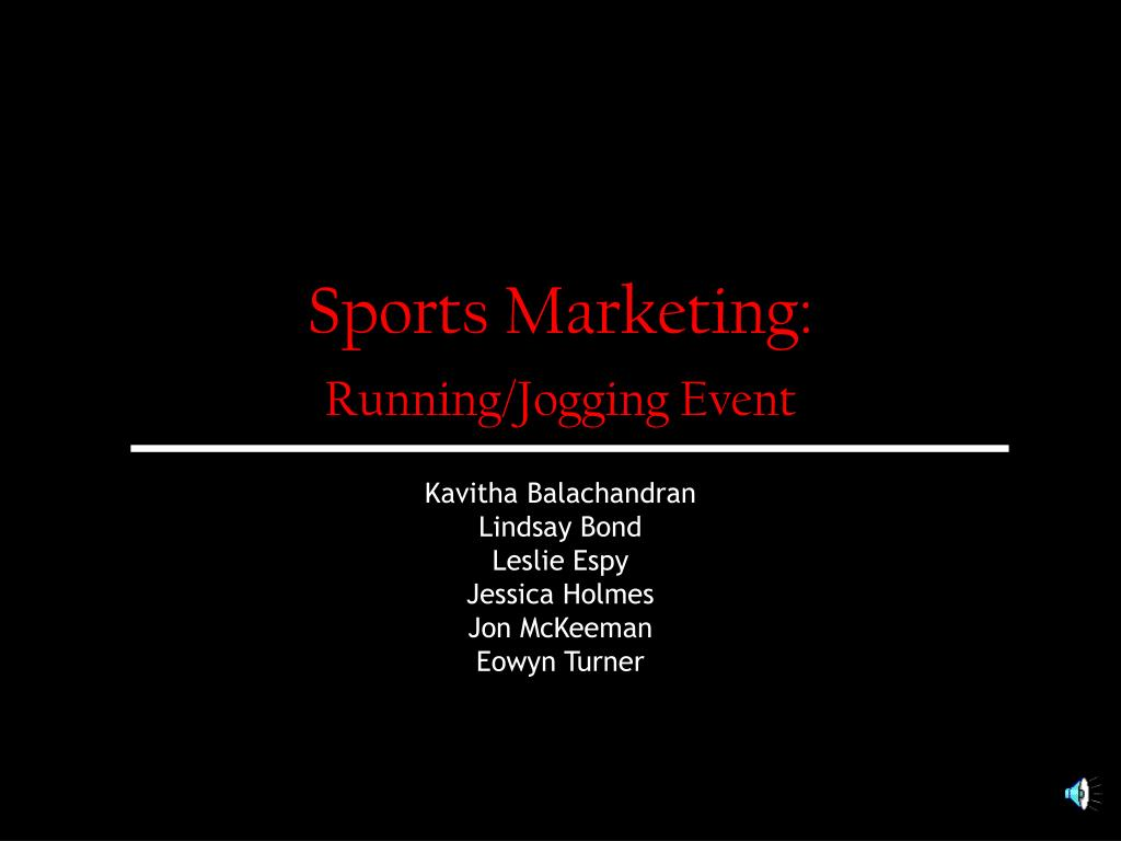 sports marketing running jogging event