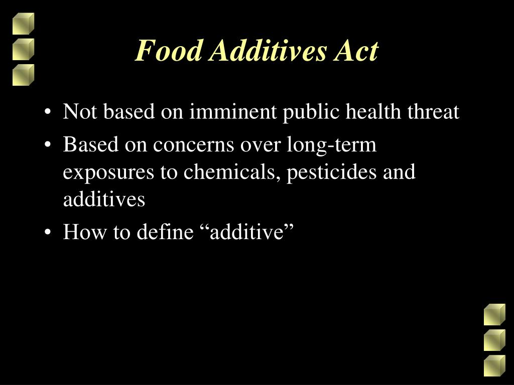 Food Additives Act