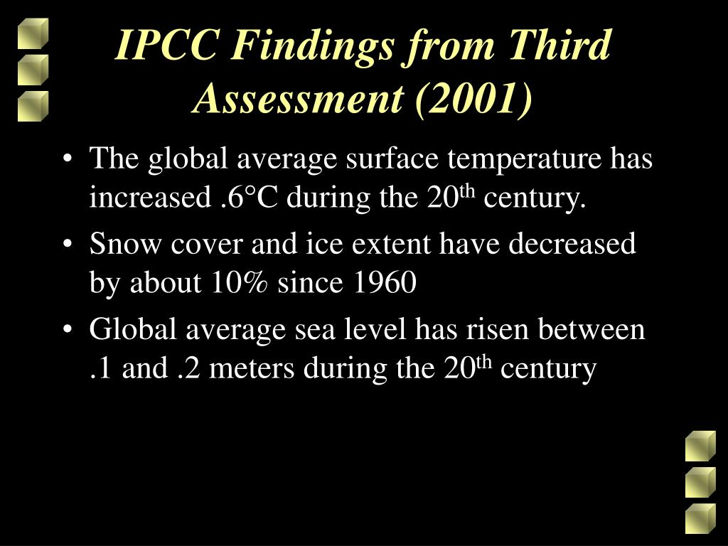 IPCC Findings from Third Assessment (2001)