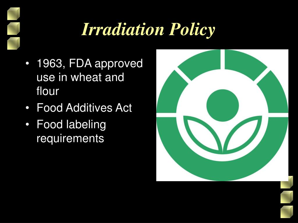 1963, FDA approved use in wheat and flour