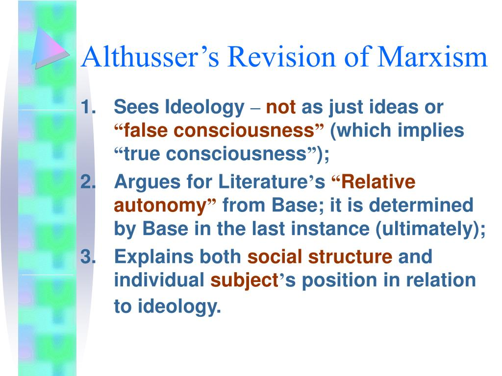 Althusser's Revision of Marxism
