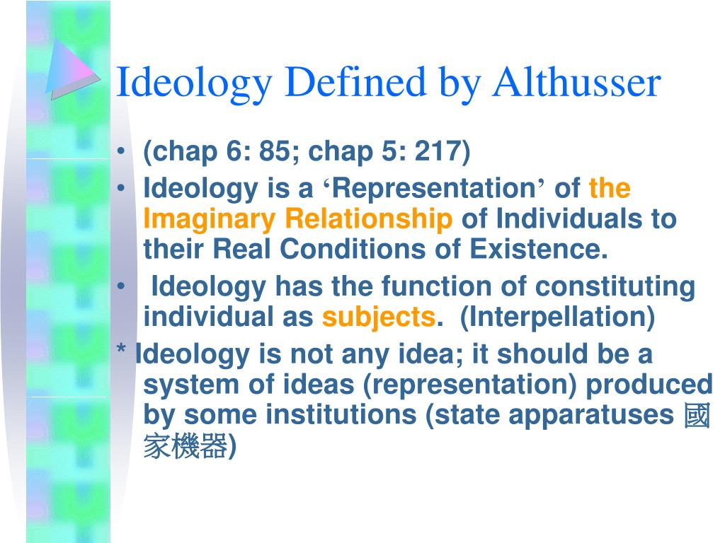 Ideology Defined by Althusser