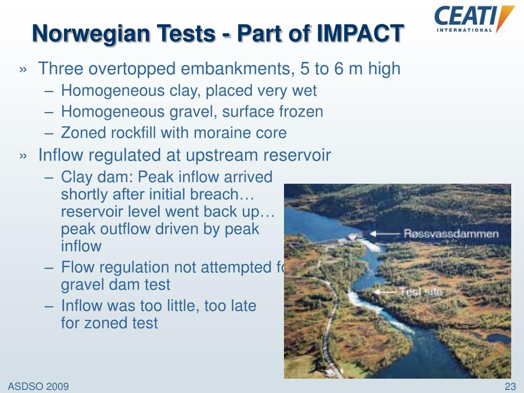 Norwegian Tests - Part of IMPACT