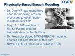 physically based breach modeling