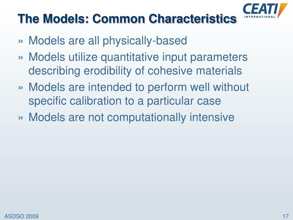 The Models: Common Characteristics