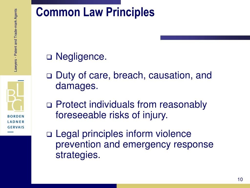 Common Law Principles