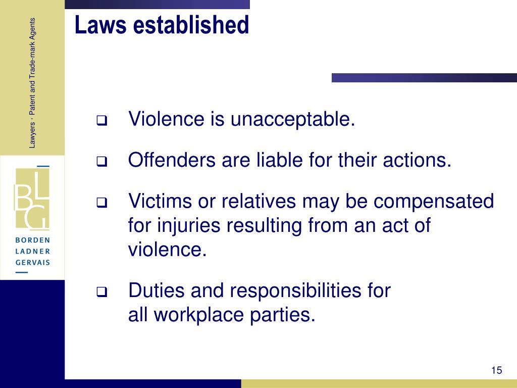 Laws established