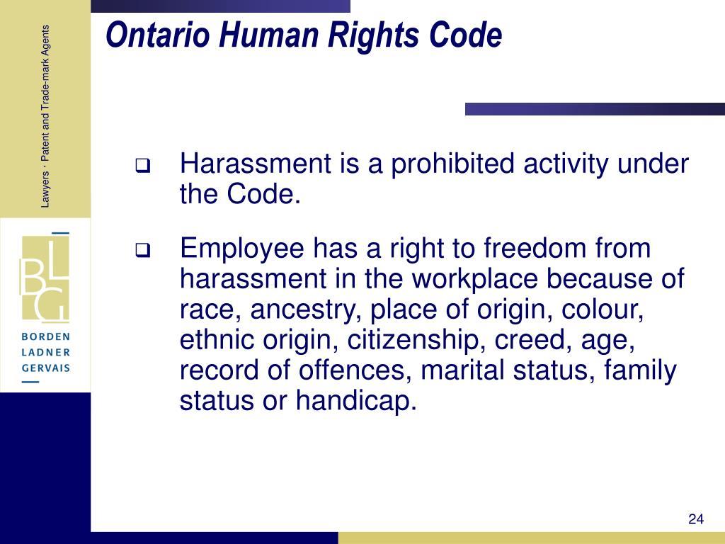 Ontario Human Rights Code