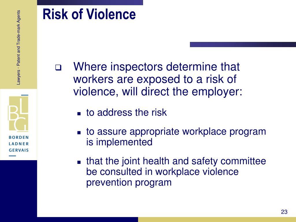 Risk of Violence