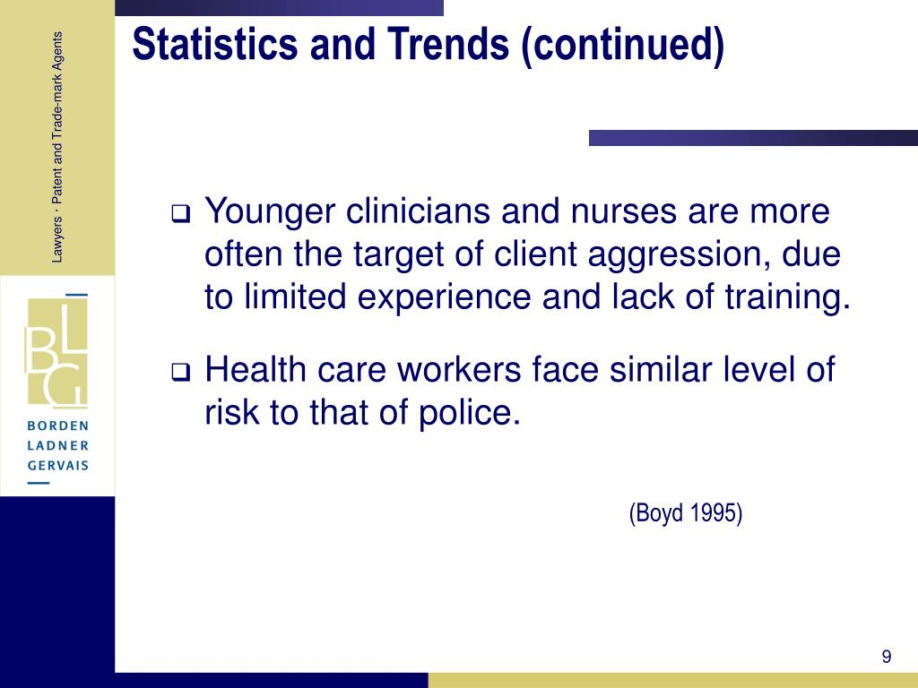 Statistics and Trends (continued)
