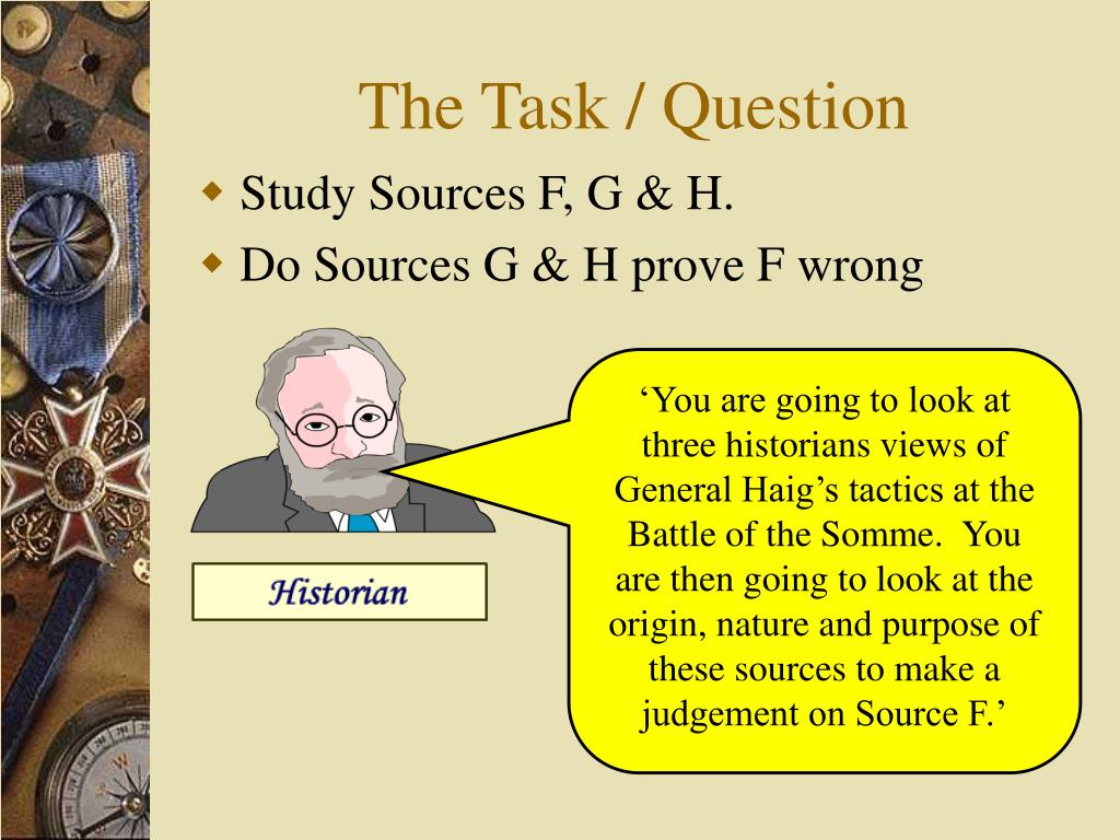 The Task / Question