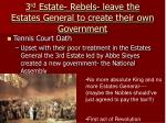 3 rd estate rebels leave the estates general to create their own government
