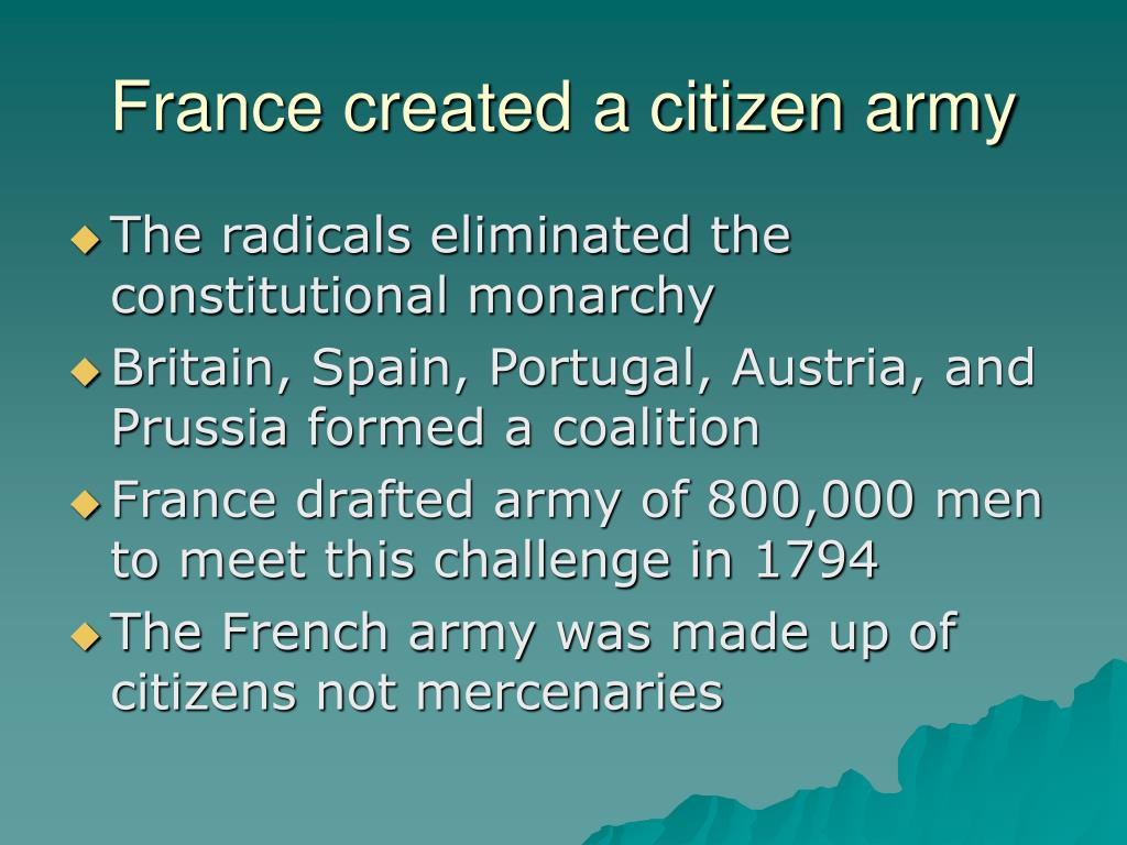 France created a citizen army