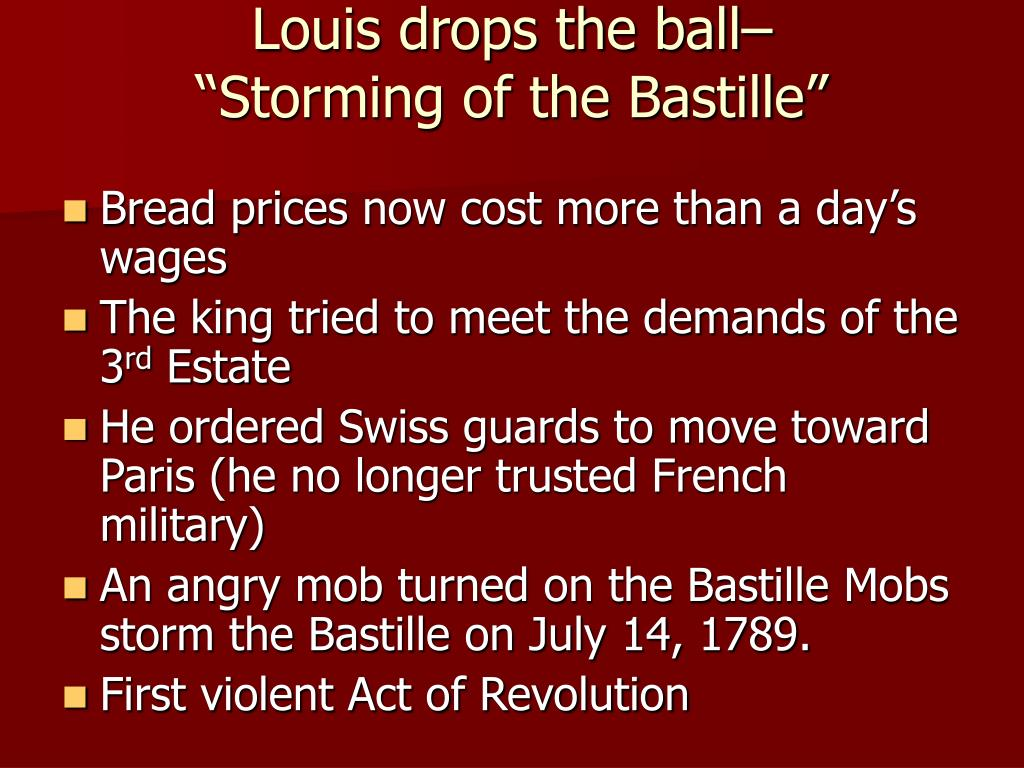 Louis drops the ball–