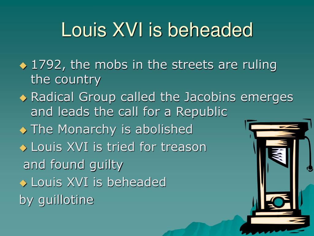 Louis XVI is beheaded