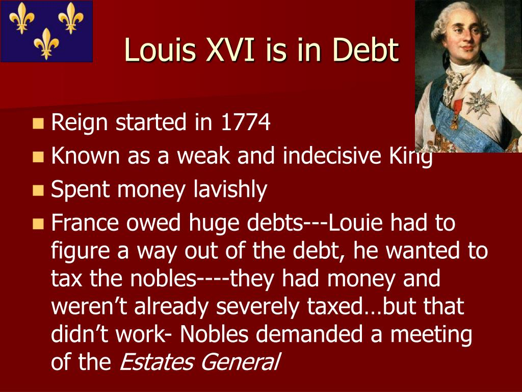 Louis XVI is in Debt