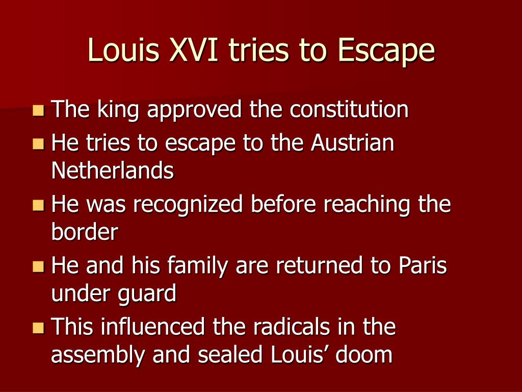 Louis XVI tries to Escape