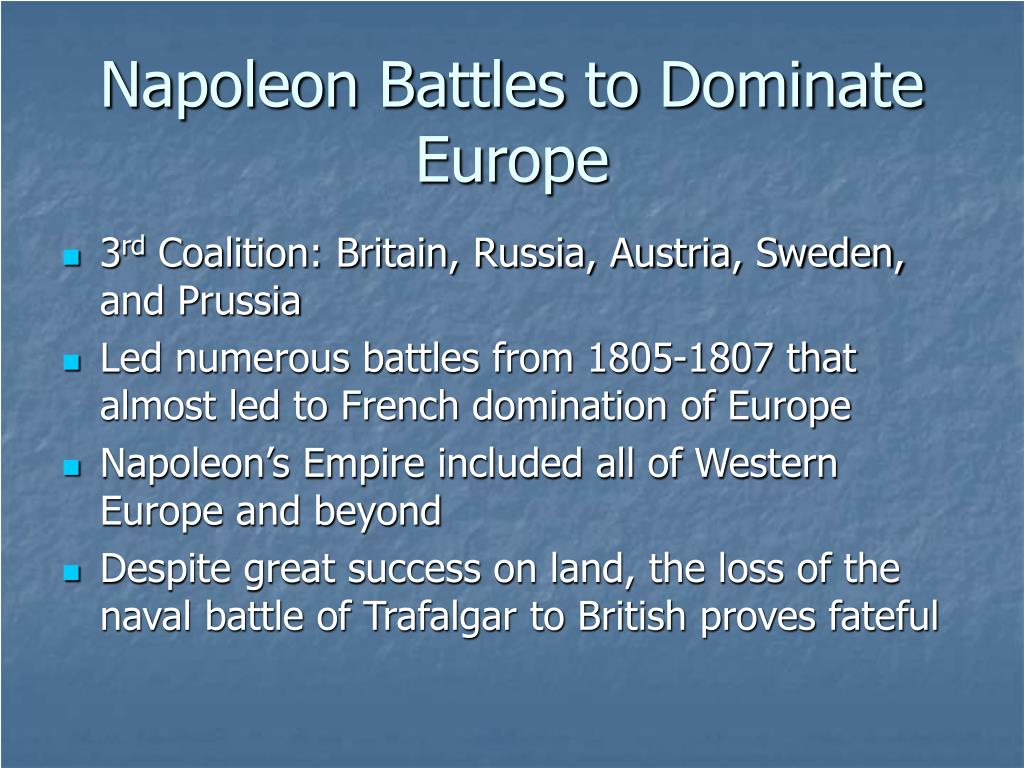 Napoleon Battles to Dominate Europe