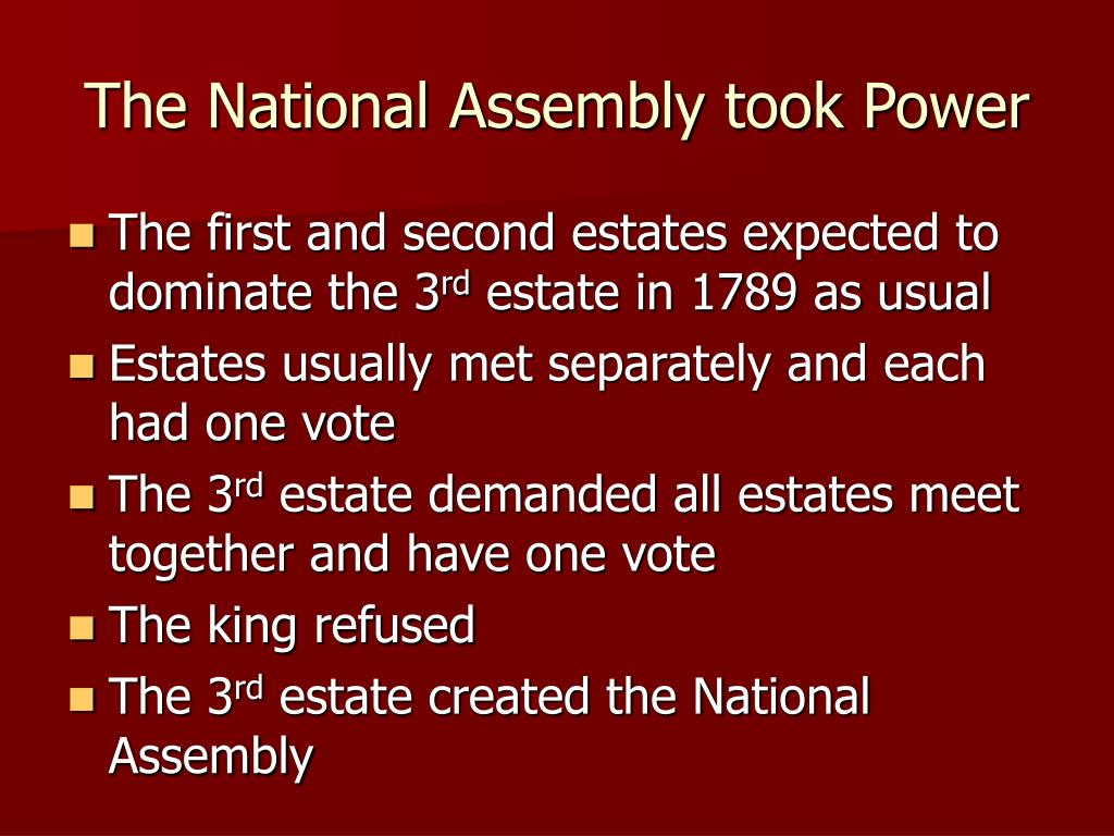 The National Assembly took Power
