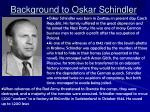 background to oskar schindler
