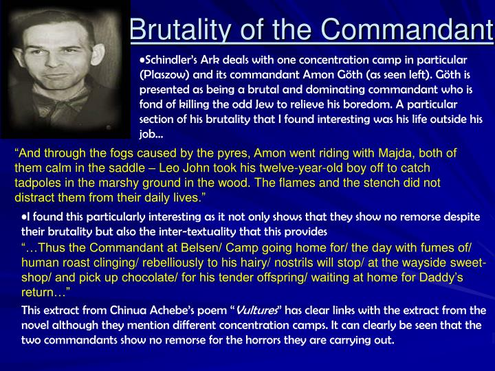 Brutality of the Commandant