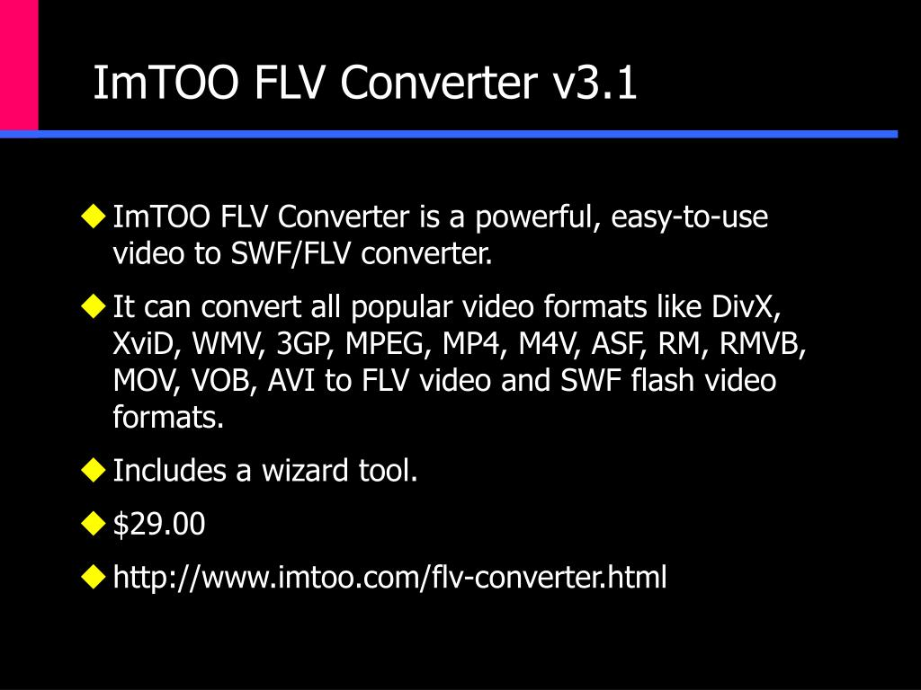ImTOO FLV Converter v3.1