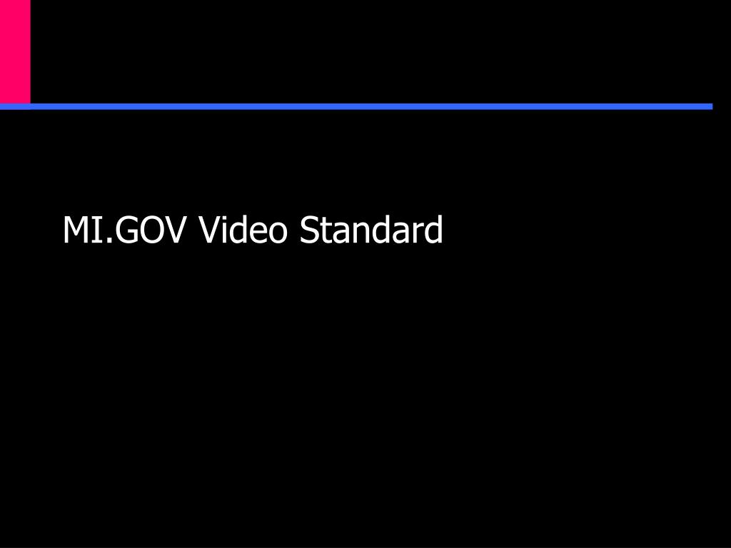MI.GOV Video Standard