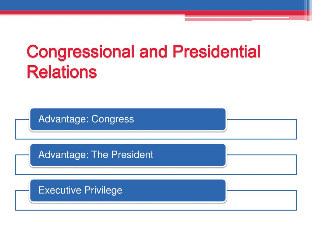 Congressional and Presidential Relations
