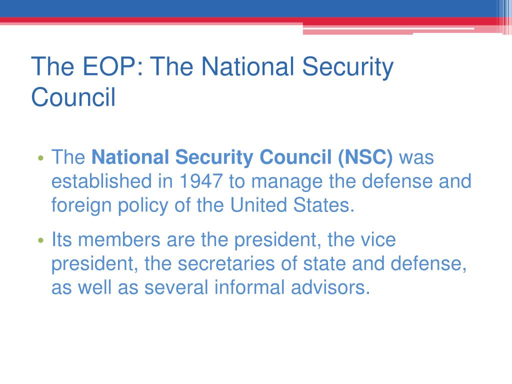 The EOP: The National Security Council