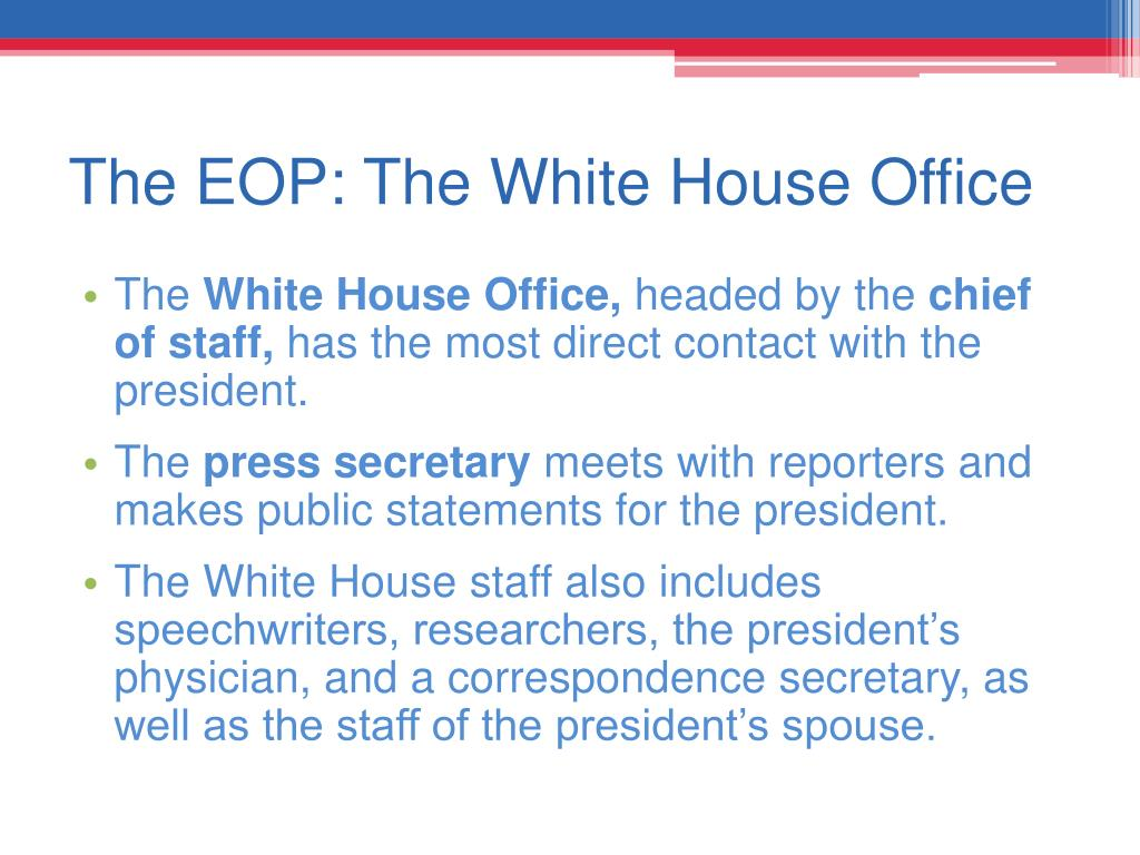 The EOP: The White House Office