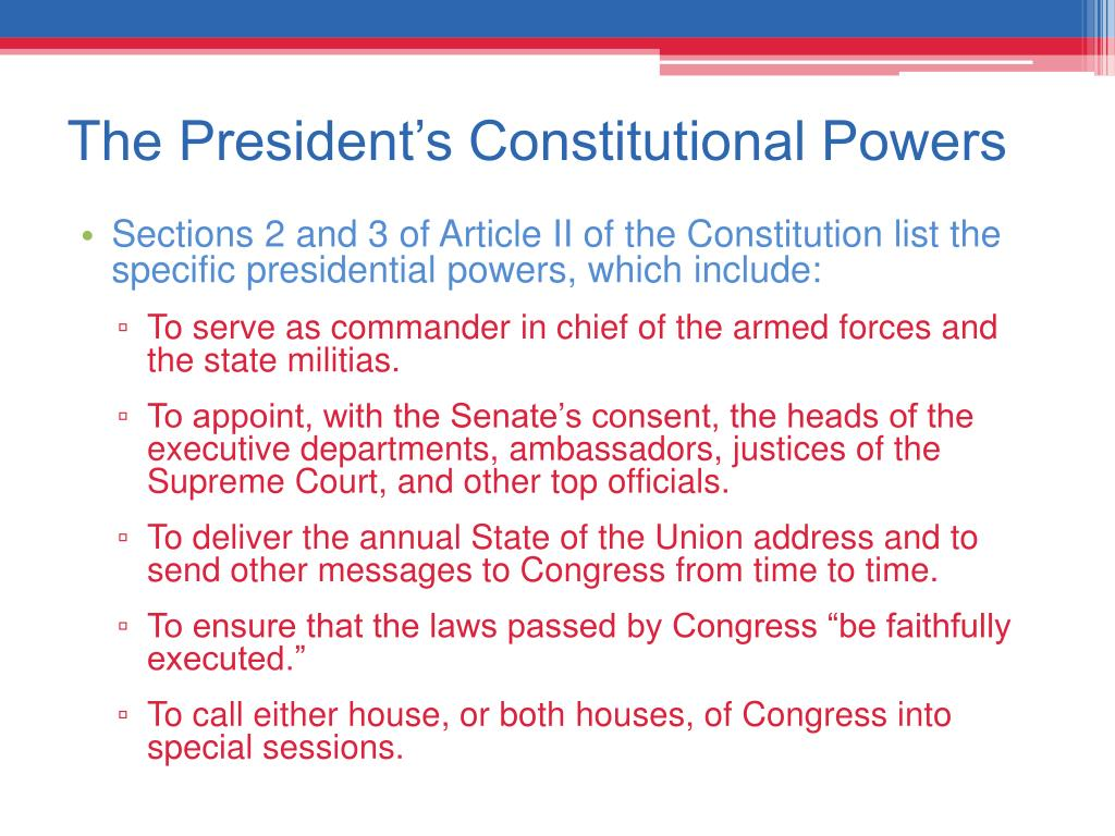 The President's Constitutional Powers