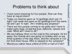 problems to think about