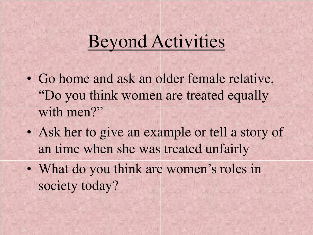 Beyond Activities