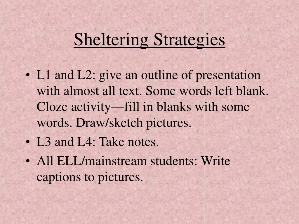 Sheltering Strategies