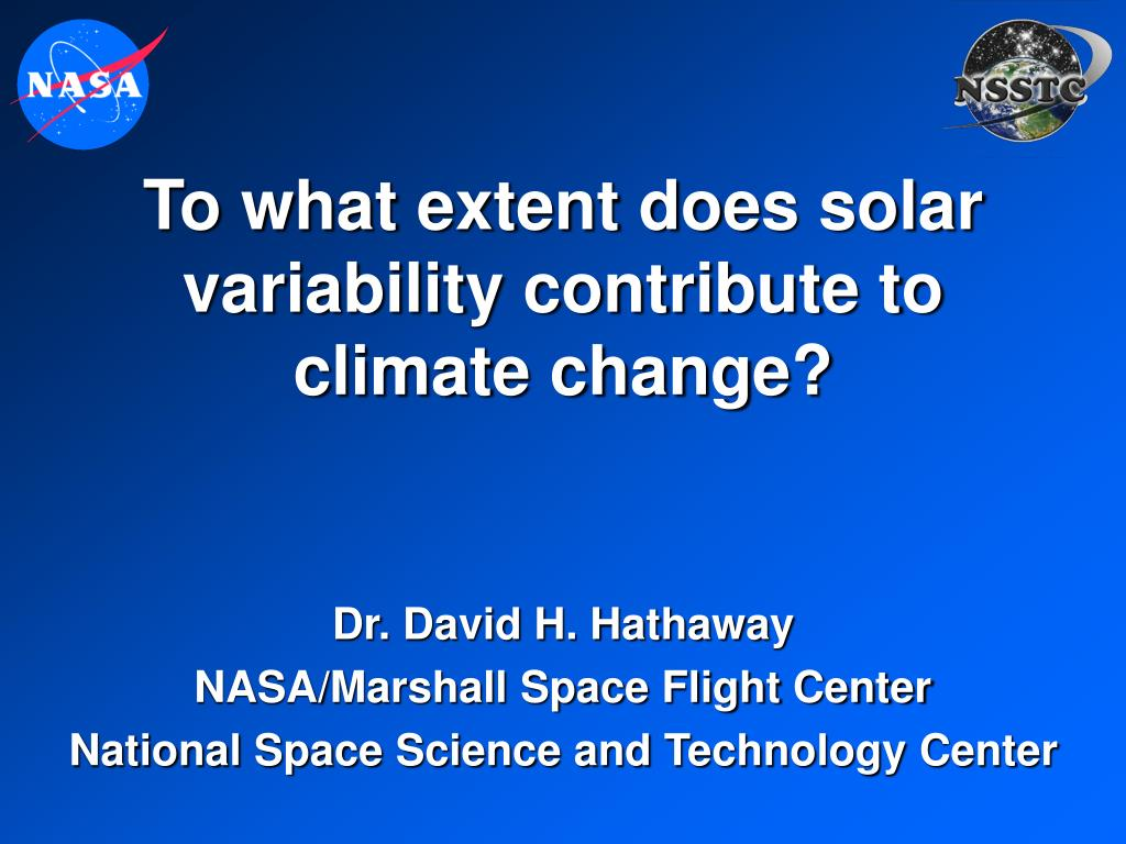 To what extent does solar variability contribute to climate change?