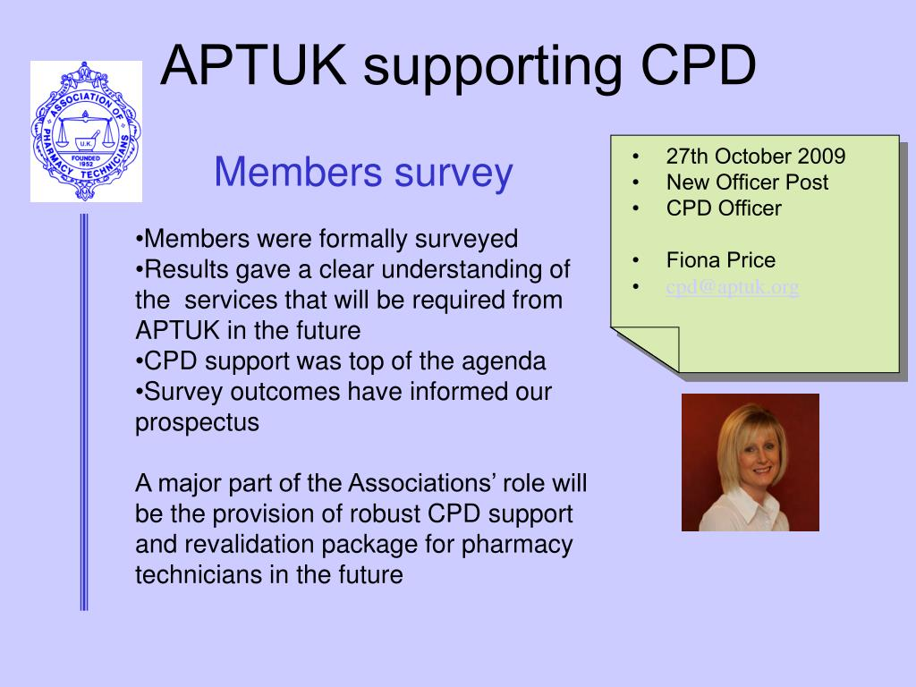 APTUK supporting CPD