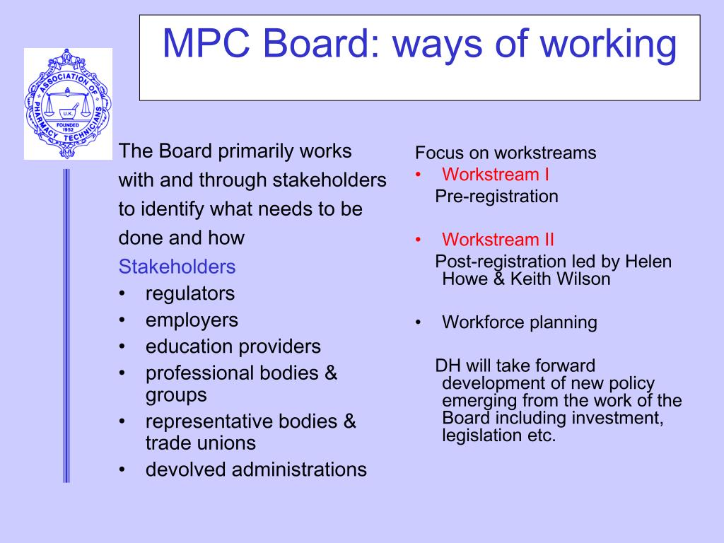 MPC Board: ways of working