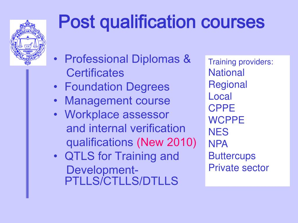 Post qualification courses