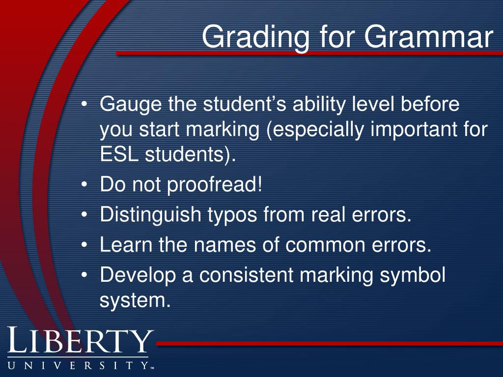 Grading for Grammar