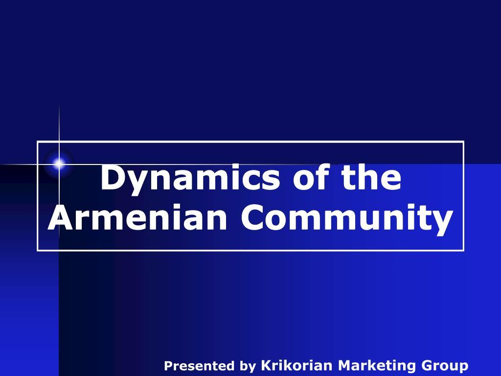 dynamics of the armenian community