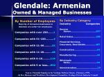 glendale armenian owned managed businesses