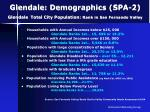 glendale demographics spa 2 glendale total city population rank in san fernando valley