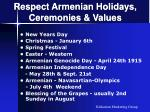 respect armenian holidays ceremonies values