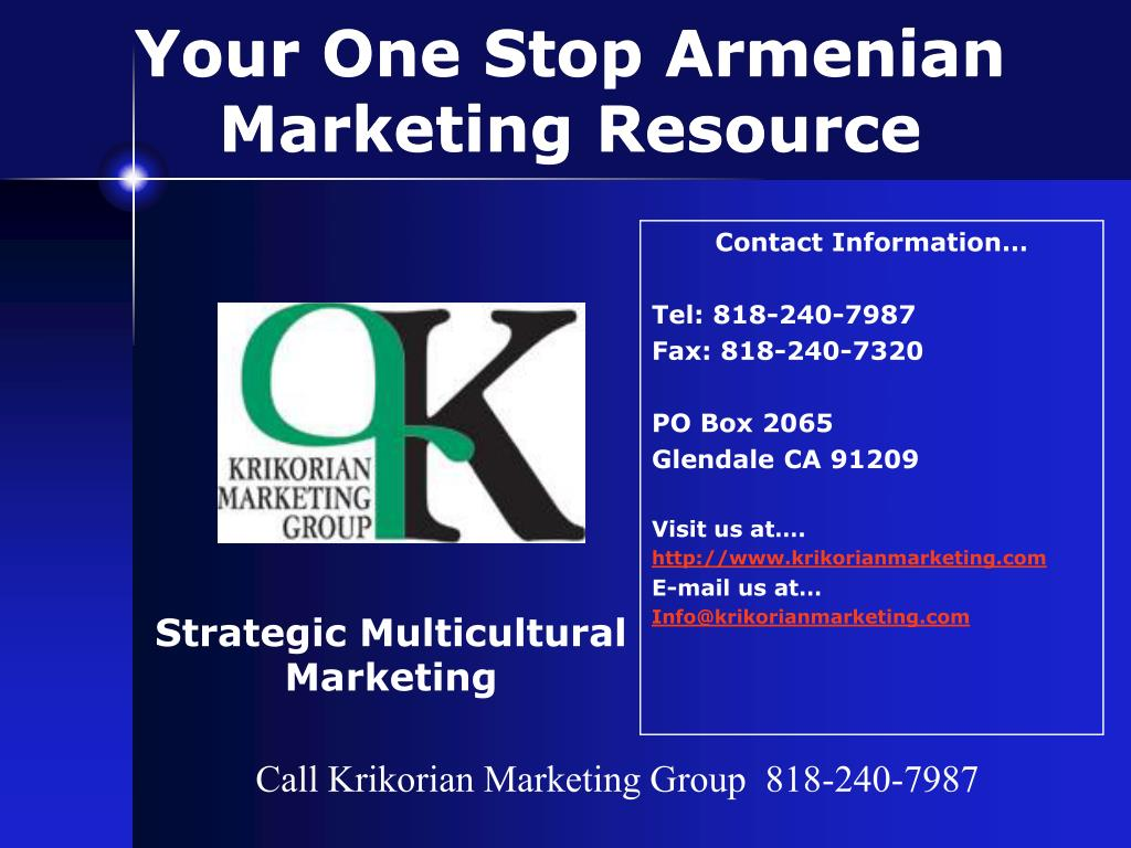 Your One Stop Armenian Marketing Resource