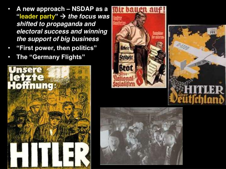 A new approach – NSDAP as a ""