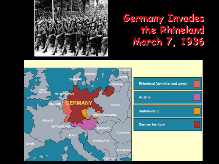 Germany Invades the Rhineland