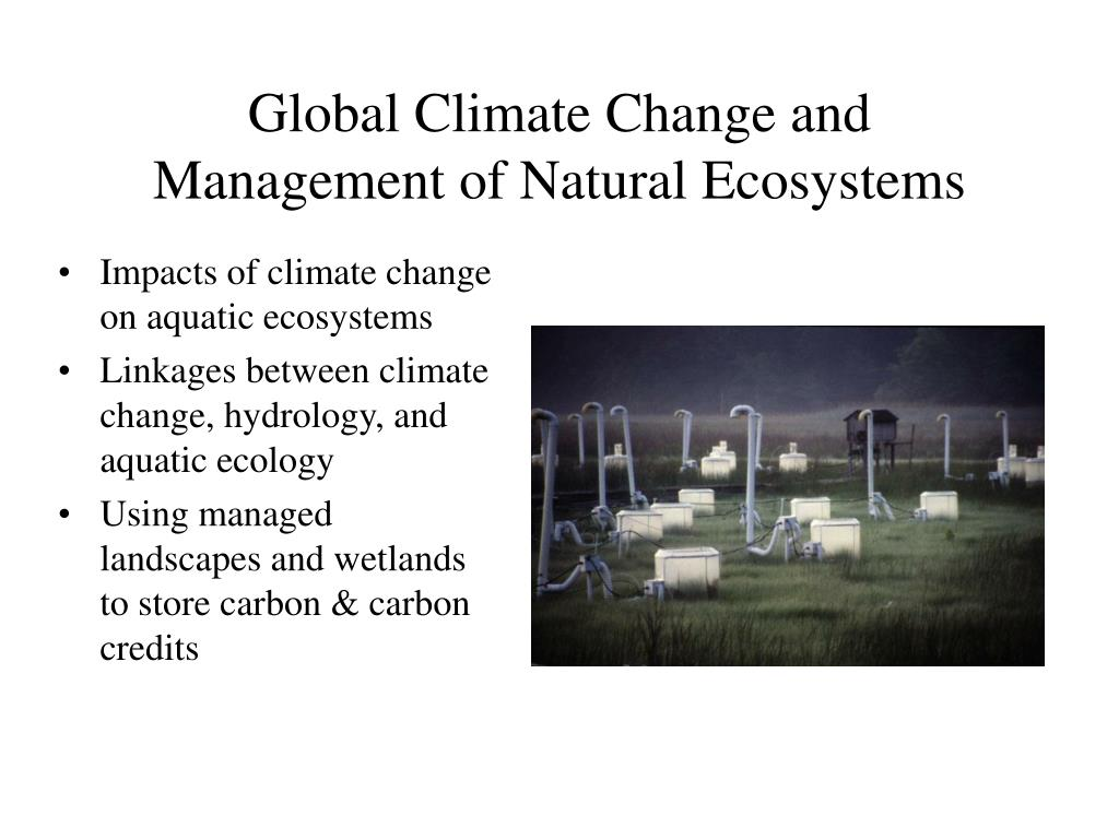 Global Climate Change and Management of Natural Ecosystems