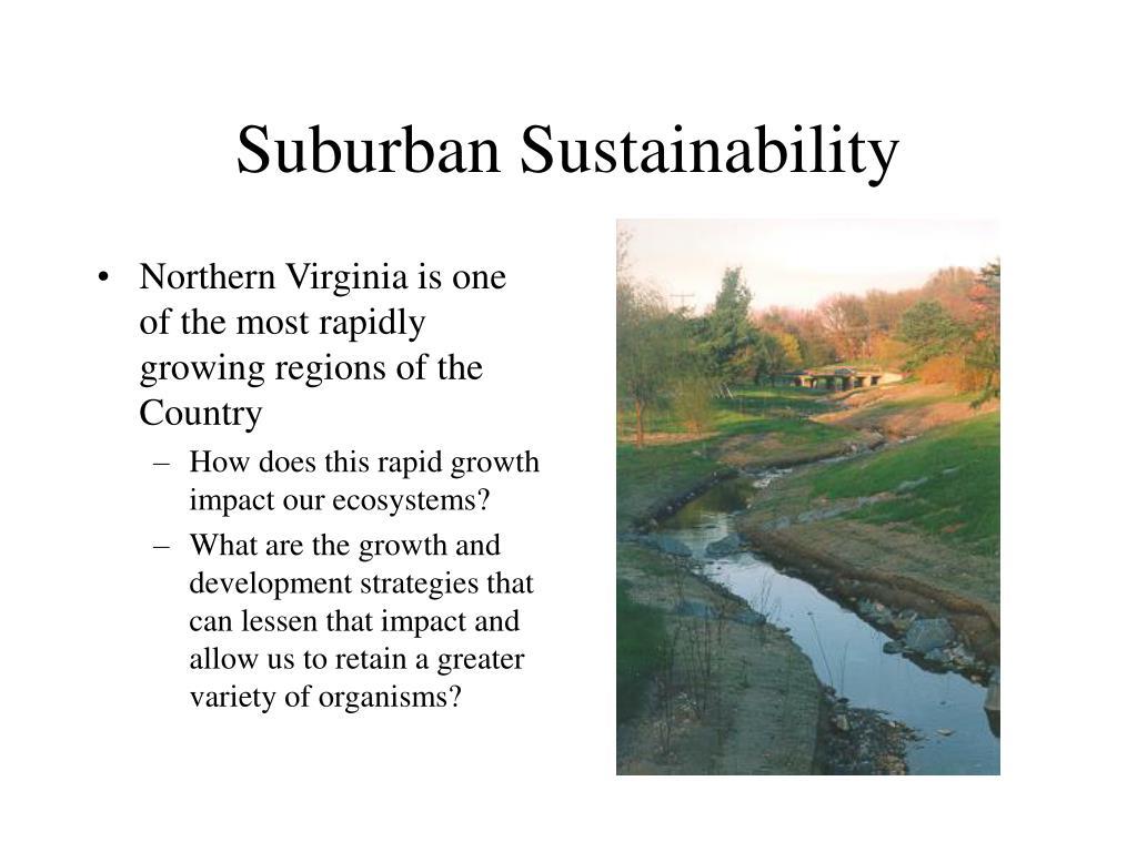 Suburban Sustainability