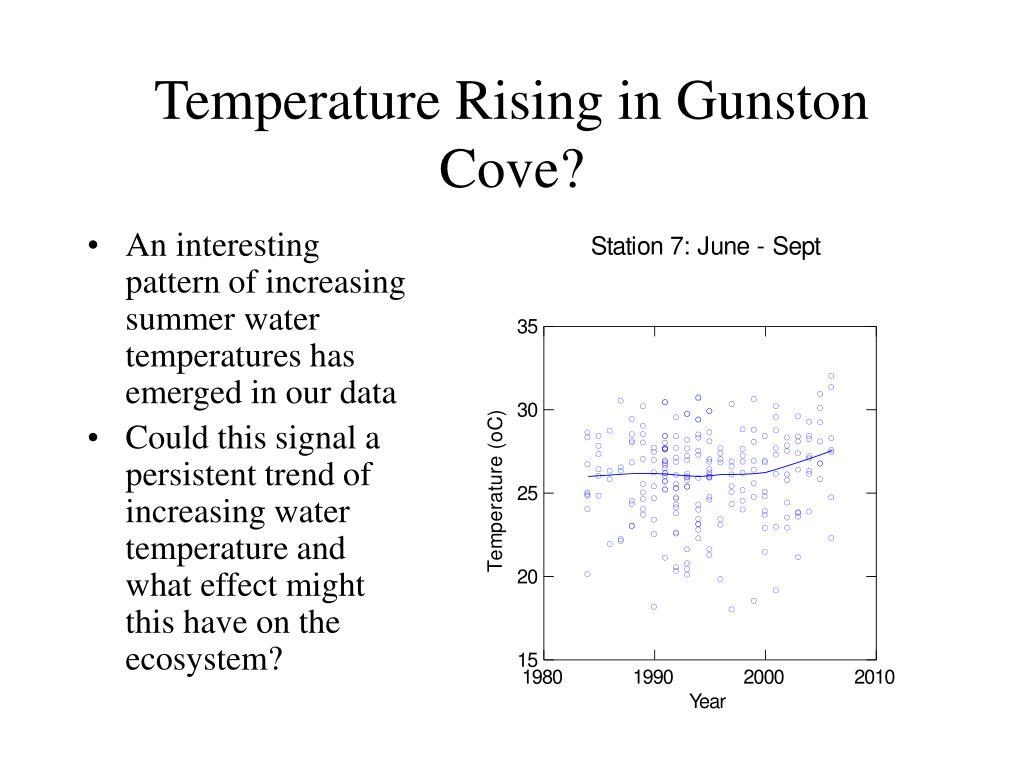 Temperature Rising in Gunston Cove?