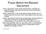 prayer before the blessed sacrament